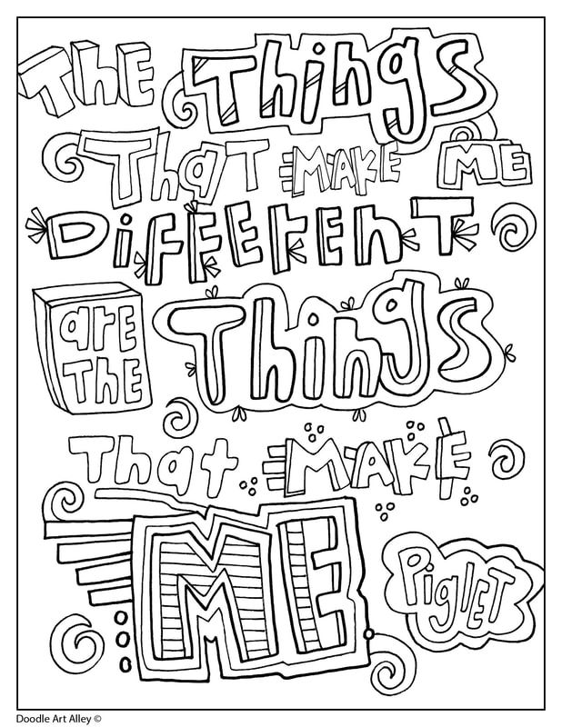 Winnie The Pooh Coloring Quotes Doodle Art Alley Color Quotes Quote Coloring Pages Winnie The Pooh Pictures