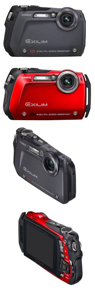 Casio Exilim EX-G1 - communicating ideas of ruggedness and durability in a compact camera through visual product design