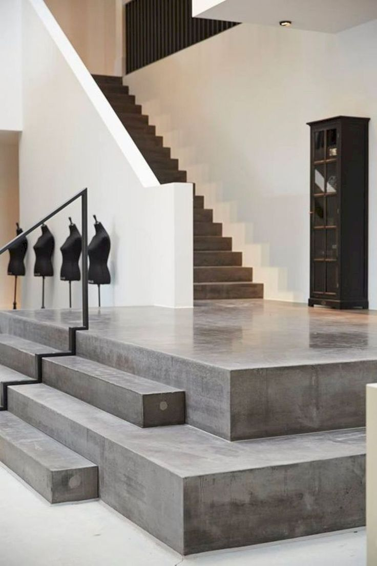 Best 16 Super Cool Concrete Staircase Ideas Home Improvements 640 x 480