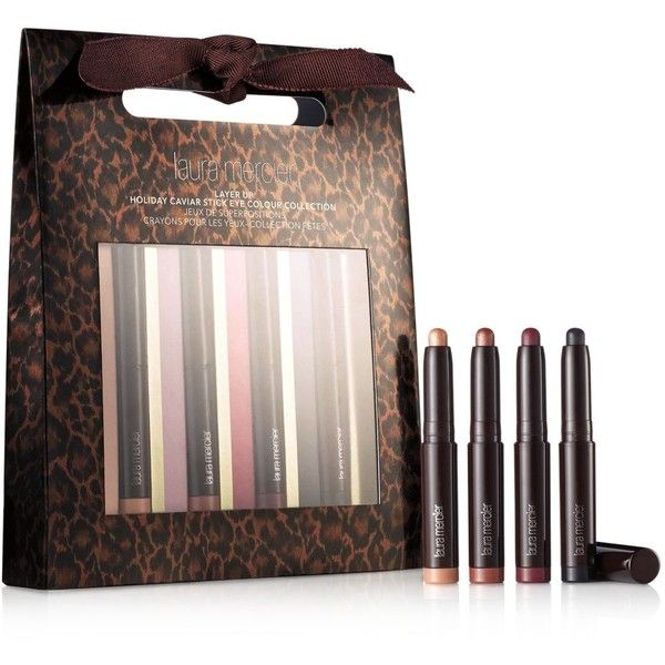 Laura Mercier Layer Up Holiday Caviar Stick Eye Color Collection ($38) ❤ liked on Polyvore featuring beauty products, makeup, eye makeup, eyeshadow, no color, laura mercier, laura mercier eye makeup, laura mercier eyeshadow and laura mercier eye shadow