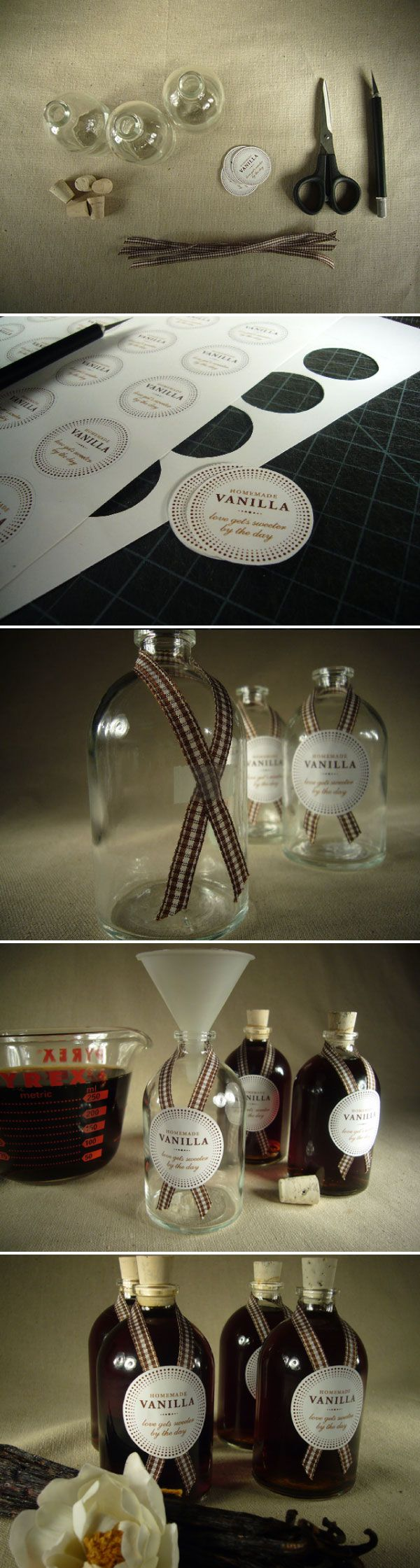 Definitely doing this for Christmas this year! #homemade vanilla #favors via #StyleMePretty