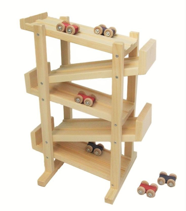 """19 1/2"""" h x 14"""" w x 10 1/2"""" w (with stands) Let's Go Racing! Two tracks, six cars and lots of competition. If you have two kids who will 'fight' over the single track, then this is your answer. Rhythm"""