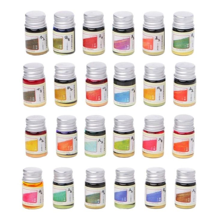 24 Solar Terms Luminous Paint Gold Powder Colored Bottled Fountain Pen Ink