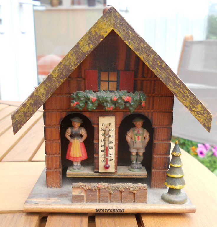 VINTAGE MAN & WOMAN WEATHER HOUSE ~ SOLD ON MY EBAY SITE ...