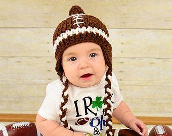 Fútbol manta y sombrero de bebé Baby fútbol Prop Prop por 224Locust