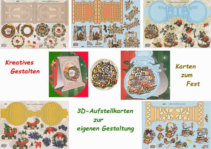 3D-Aufstellkarten Weihnachten - zur eigenen Gestaltung - Auswahl - basteljulchen
