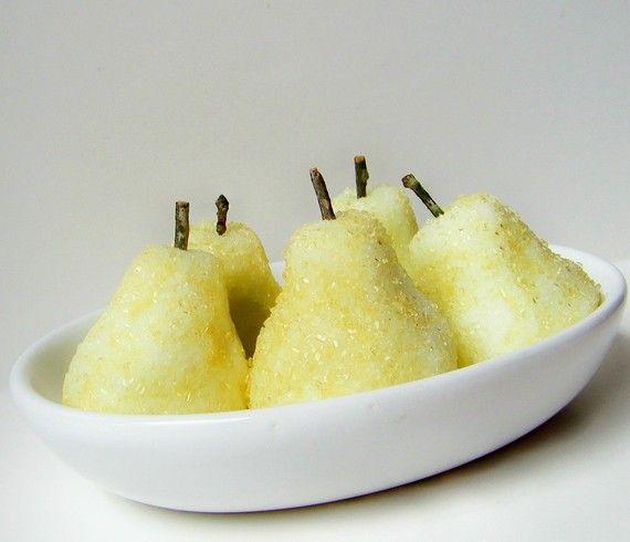 Fresh Pear Sugar Soaps Vegan - by FairyBubbles
