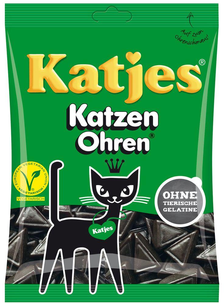Bonbons au réglisse Katzen Ohren ( oreilles de chat ) de Katjes