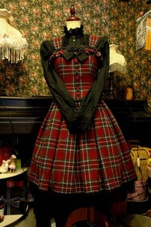 Red plaid dress by Mary Magdalene