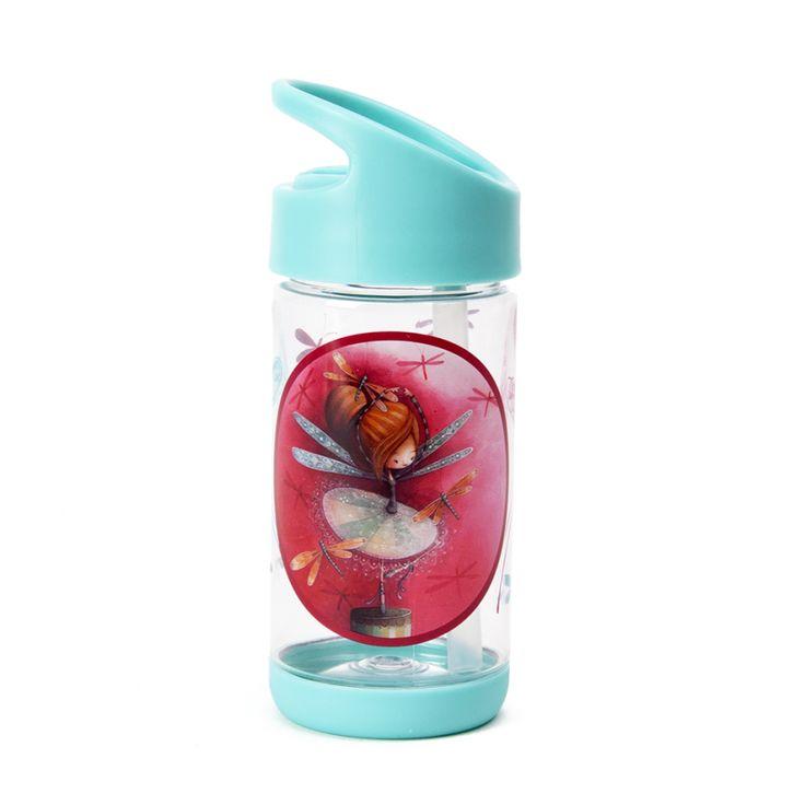 Pour une hydratation colorée! // Gourde Erika KETTO Water Bottle Erika // Plastique rigide. Sans BPA, sans plomb. Paille amovible. Contenant hermétique. // Rigid plastic bottle. BPA and lead free. Removable straw. Watertight. // #Gourde #WaterBottle #Ketto