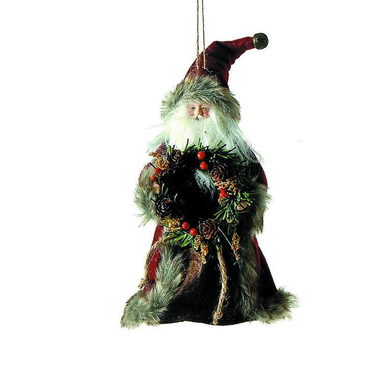 Vintage Χριστουγεννιάτικα στολίδια από την Echodeco. Ξύλινα και υφασμάτινα που θυμίζουν μια άλλη εποχή, συνδυάστε τα, δημιουργήστε Vintage διακόσμηση και ταξιδέψτε σε έναν άλλο αιώνα!Κορυφή δέντρου Άγιος Βασίλης. Διάσταση 18  εκατοστά. Τα προϊόντα και τα χρώματά τους ενδέχεται να διαφέρουν ελαφρώς σ
