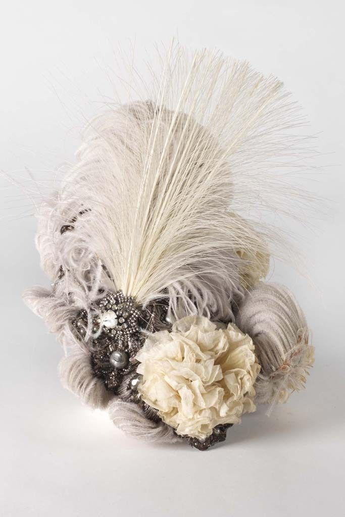 Ostrich plume and aigrette toque, Madame Virot, 1896. Photo by Courtesy of The Museum of the City of New York/The Monacelli Press