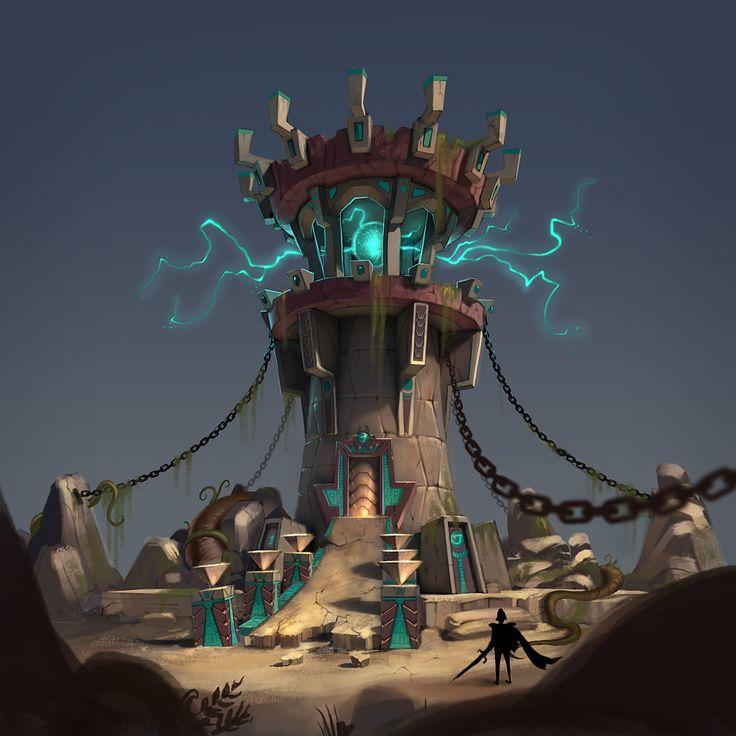 campfire tower concept art - Google 검색
