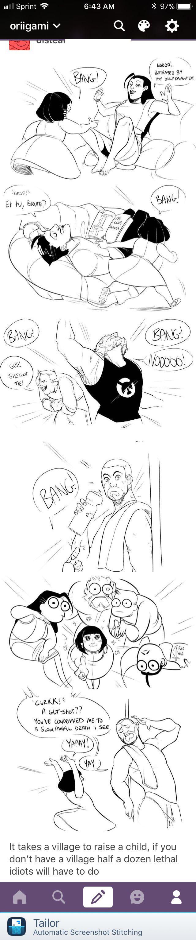 Pharah:BANG!-She said at me-//Me:-Falls to the ground and sticks tongue out-Bleh