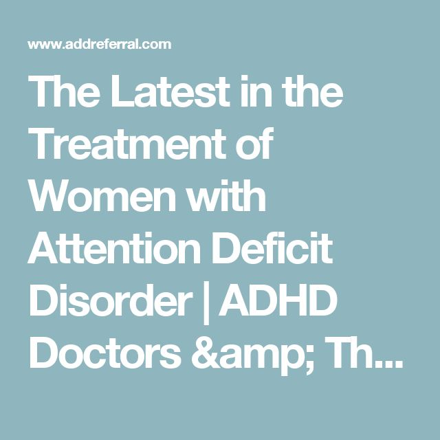 Adult attention deficit treatment