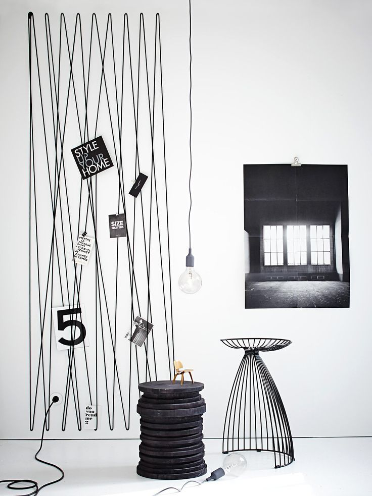 A Rope A Hammer A Few Nails That S All It Takes To Create A Graphic Interior Home Decor Cool Walls