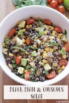 Black Bean and Cousc Black Bean and Couscous Salad. Perfect...  Black Bean and Cousc Black Bean and Couscous Salad. Perfect summer salad. Healthy and delicious! Recipe : http://ift.tt/1hGiZgA And @ItsNutella  http://ift.tt/2v8iUYW