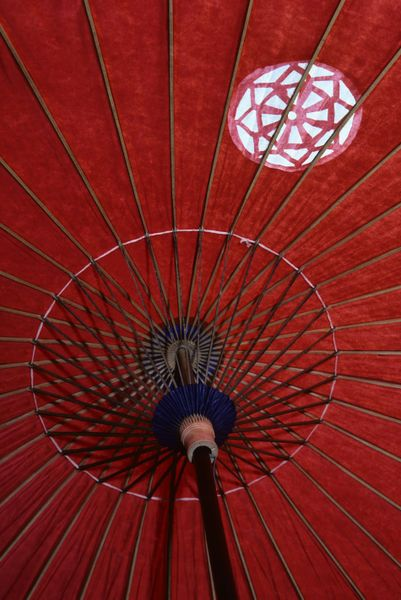 Japanese Red Paper Parasol