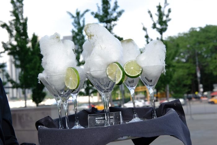 """The cocktail at the Art Institute of Chicago's Magritte-inspired gala was dubbed the """"Magritte-Ahh,"""" a concoction made with tequila, agave, and lime-kaffir salt, and topped with cotton candy.  Photo: Cheri Eisenberg"""
