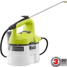 Check out this RYOBI product -   	     Introducing the RYOBI ONE+ 18v Chemical Sprayer! This unit features a pump that is optimized for cordless efficiency and runs off of any RYOBI 18v battery! The adjustable spray nozzle make this the perfect tool for a variety of spraying applications. The cap for the 1-gallon tank can be easily removed for cleaning and the cap of the tank doubles as a mixing cup! Best of all is that there is no manual pumping on this unit, the pump runs off of your 18v…