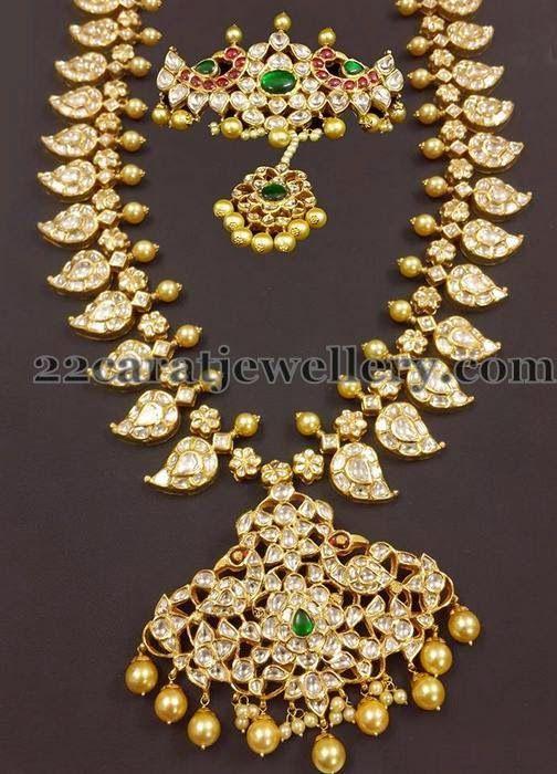 Jewellery Designs: Mango Mala with Bajuband