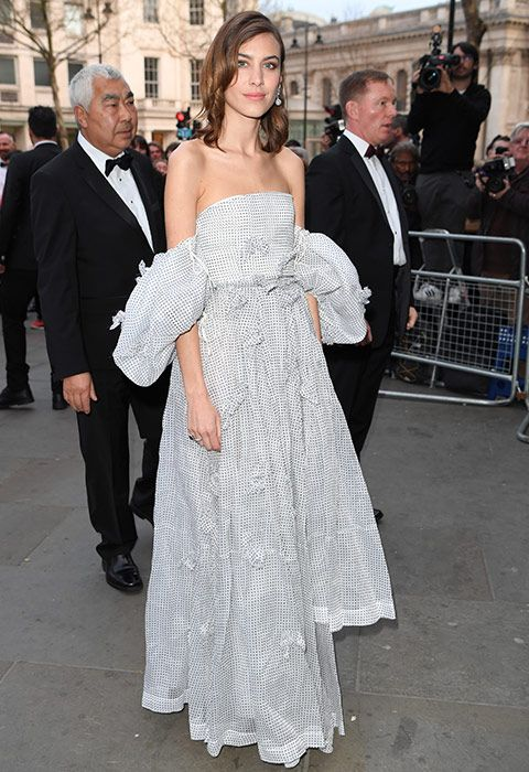 Alexa Chung, the queen of cool, traded in her kick-flare trousers and cropped coat combo for an über-feminine dress that's all sorts of sensational. Floaty and flouncy, this maxi has definite swoosh-appeal (because there's a lot of swooshing at weddings, right?) and the off-the-shoulder style is set to be major this summer, kicking its one-shoulder counterpart to the curb. In short: if your bride is having bridesmaid dress stress, send her this