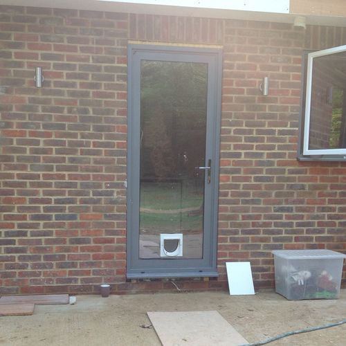 Aluminium Dual Colour Grey/white Back Door | eBay & 17 best New house Back door images on Pinterest | Back doors ...