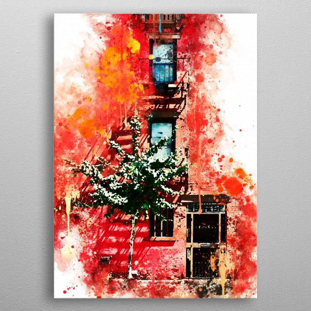 Red Facade United States Poster Print Metal Posters Poster