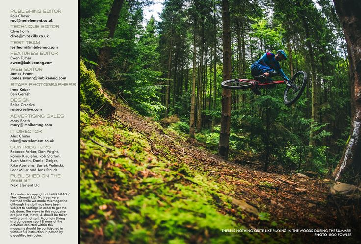 Issue 48 | Free Mountain Bike Magazine Online | IMB  Masthead for online mountain bike magazine IMB. They use a 1:5 ratio for the image and text box.
