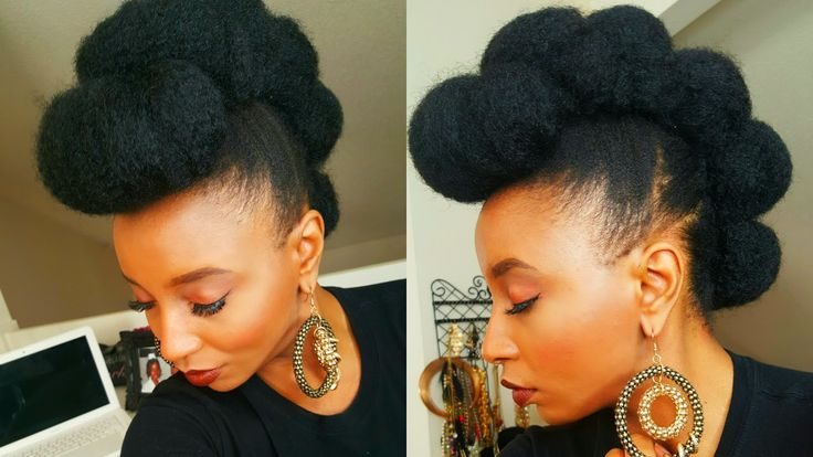 Faux Bun Hawk Hairstyle in Less Then Five Minutes ♡