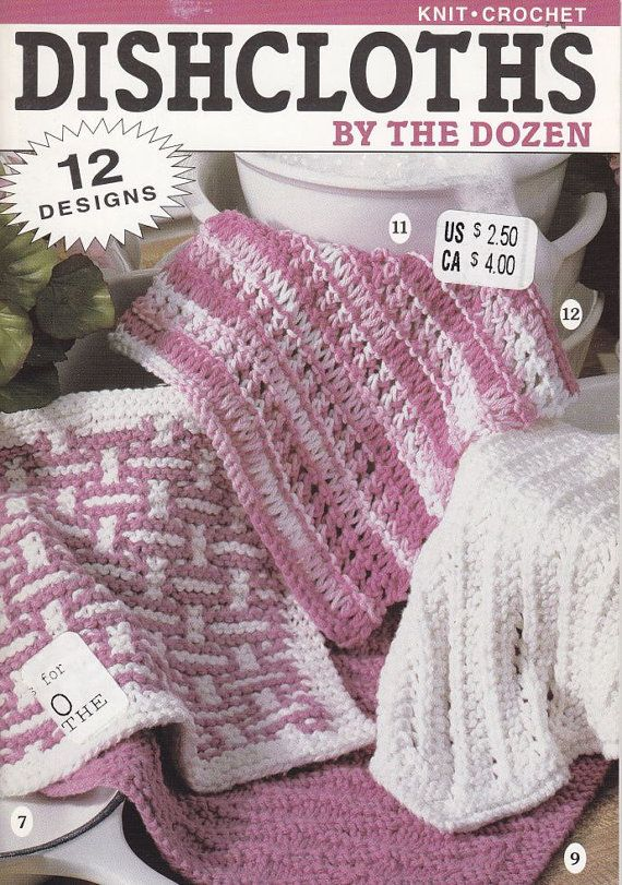 Crochet Stitches Dishcloths : Crochet Patterns