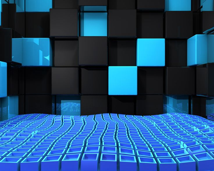 3d Cube Desktop Wallpaper The Cubes Wallpaper Black Amp Blue 3d Cubes Wallpapers