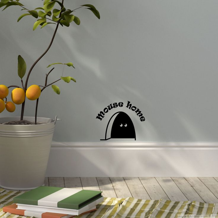 mouse hole silhouette - Google Search plotter Pinterest - stickers dans cette maison