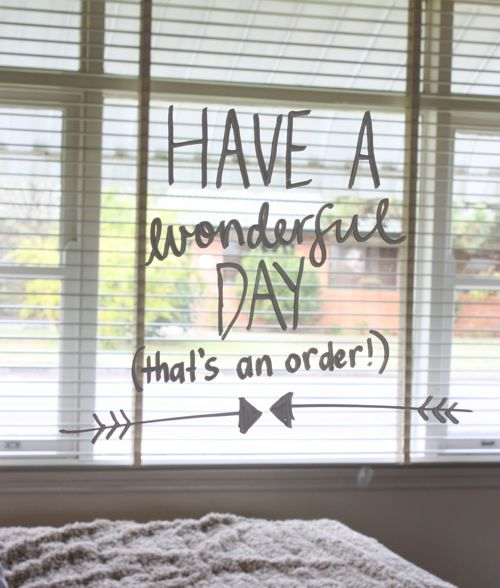draw on your windows with liquid chalk, cute!   From the Happy Home