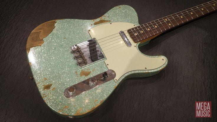 Fender Custom Shop '60s Heavy Relic Compound Radius Telecaster in Seafoam Sparkle #fender #fendercustomshop #fendercustomshoptelecaster #tele #telecaster #fendertelecaster #fendercustomshoptele #fendertele #guitarporn #fenderfamily #fenderofpinterest #guitar #electricguitar #guitarsofpinterest