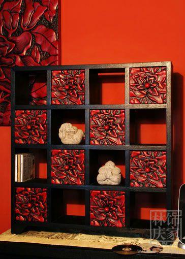 Q024-80Buddha Living Room Furniture CD Storage Rack