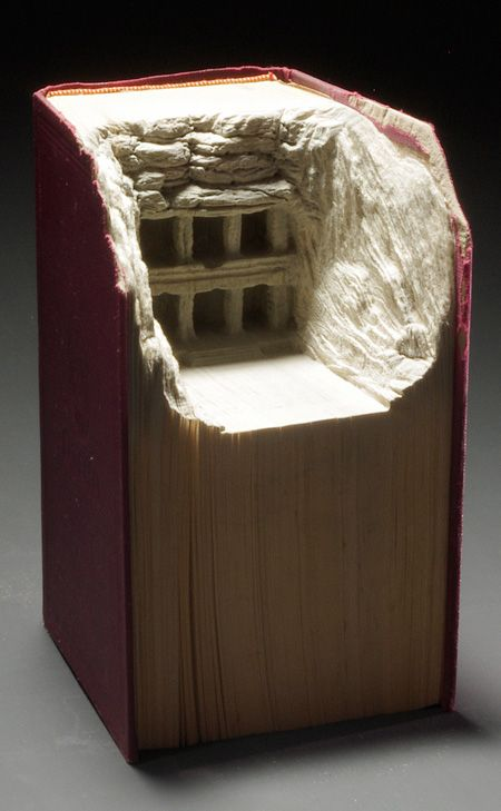 Amazing book sculptures created by talented Canadian artist Guy Laramee.