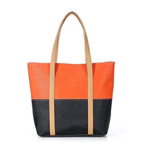 Oferta: 17.79€ Dto: -16%. Comprar Ofertas de Wewod bolsa de hombro/bolsos bandolera mujer baratos/bolso shopper piel/bolsa de viaje grande 38 x 31 x 10 cm (L*H*W) (Naranj barato. ¡Mira las ofertas!