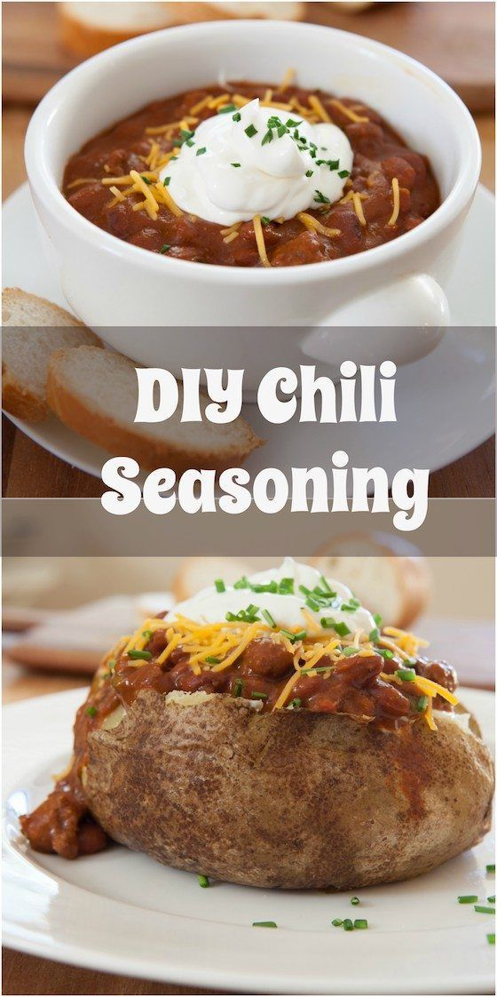 DIY Chili Seasoning - This recipe for chili mix has no fillers and you probably already have these ingredients in you home. Try homemade chili or chili topped baked potatoes.