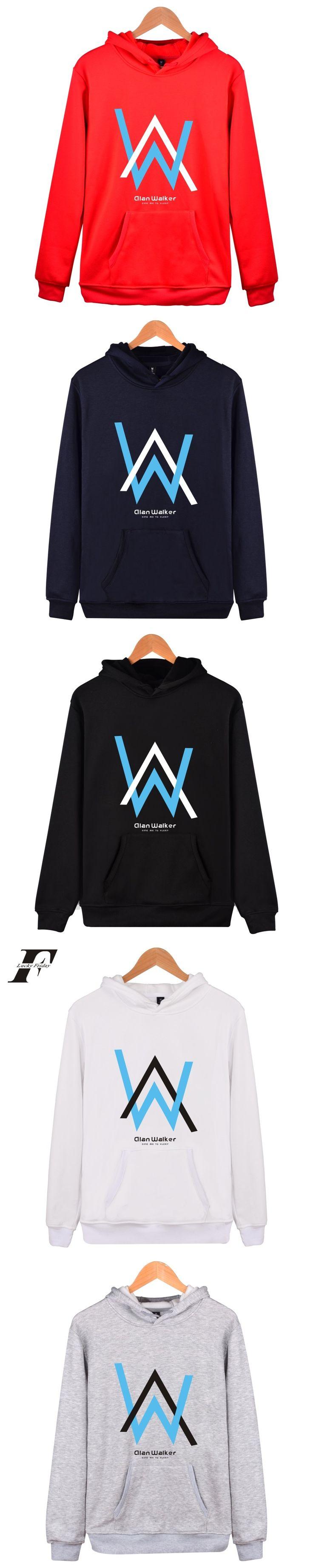 LUCKYFRIDAYF Alan Walker 2017 New DJ Electronic Sound Women/Men Hoodies and Sweatshirt Fashion Cotton Hoodies Kpop Plus Size 4XL