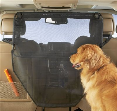 Give your best friend the safety of backseat riding while getting a full view of the front. The High Road Wag 'n Ride Dog Barrier adjusts up or down for best coverage, keeping the driver safe from doggie distractions. See this and more doggie accessories for the car at www.highroadorganizers.com
