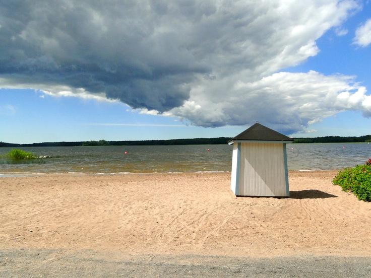 Knipan beach in Ekenäs, Raseborg, Finland  Calm before the storm