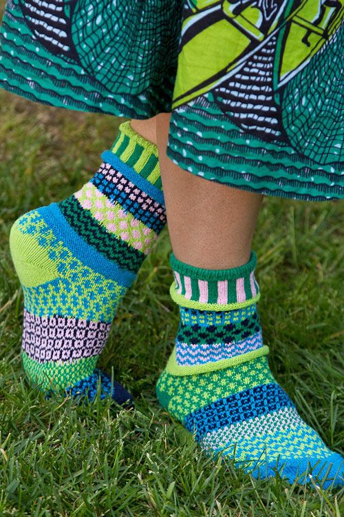 Water Lily Crew Socks, from our newest supplier, Solmate socks!