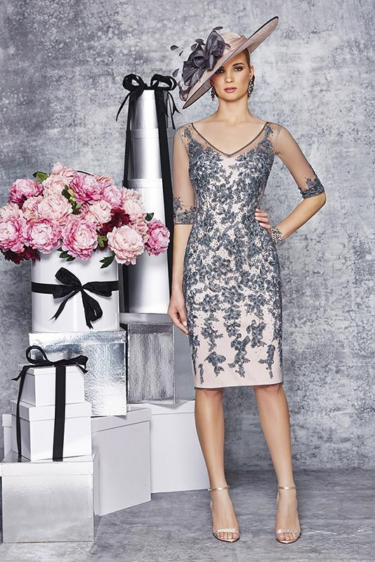 New Ronald Joyce 991079 from their new Autumn/Winter 2015 collection. This is a stylish Mother of the Bride and Special Occasion dress in Charcoal.