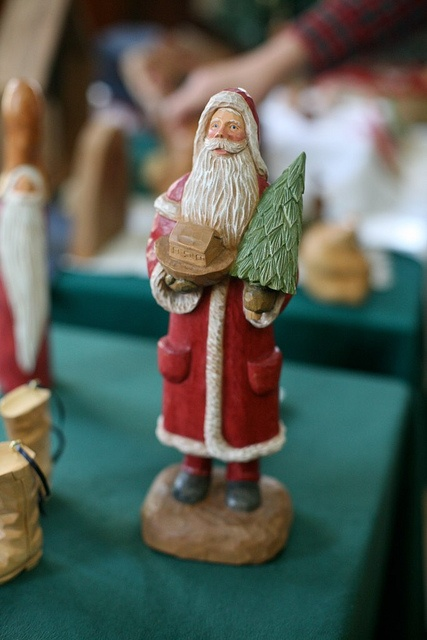 Hand carved santa from the fireside sale at john c