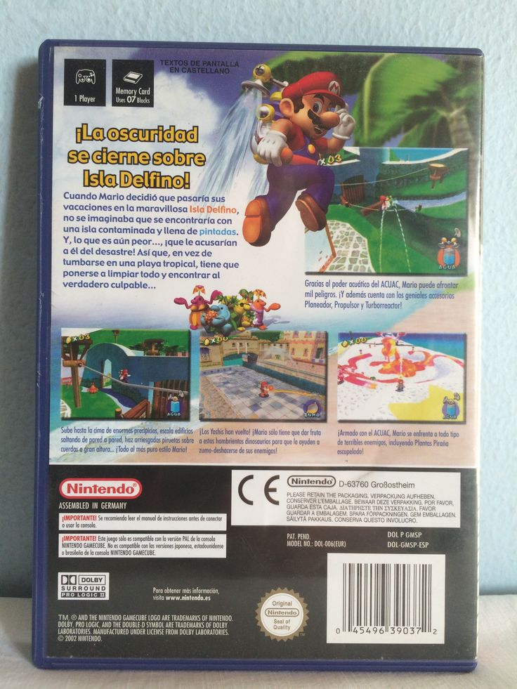 Super Mario Sunshine game behind.