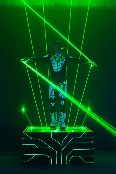 laserman Laser Show using Pangolin laser systems