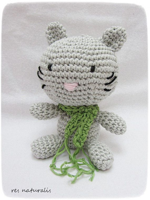 Crochet Amigurumi Little Baby Kitty by ResNaturalis on Etsy  take a look on my shop: https://www.etsy.com/shop/ResNaturalis?ref=hdr_shop_menu