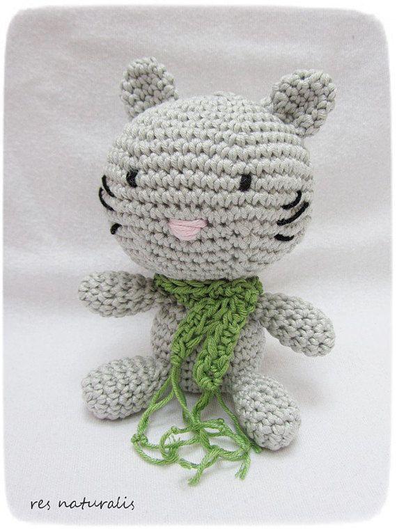 Crochet Amigurumi Little Baby Kitty by ResNaturalis on Etsy  take a look on my shop: https://www.etsy.com/shop/ResNaturalis?ref=hdr_shop_menu