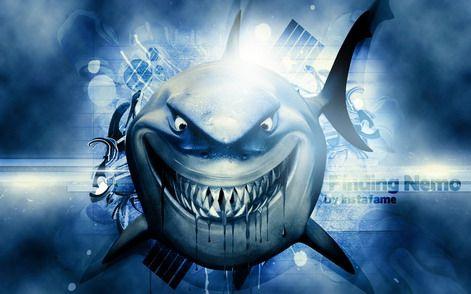 Best Finding Nemo Shark Cartoon Wallpaper Decals For Boys 400 x 300